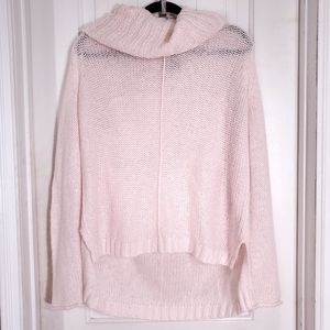 Wooden Ships Pink Mohair Wool Cowl Neck Sweater L